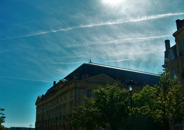 Blue skies in Bordeaux. (c) 2014 T.S. Jackson